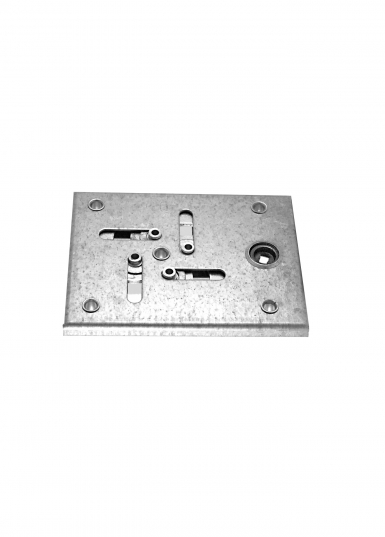 Lock quadlateral single-motion without cylinder