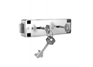 Authorized access lock for safety deposit boxes