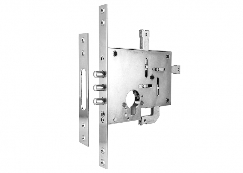 Additional mortise lock 2003 with aperture for profile cylinder