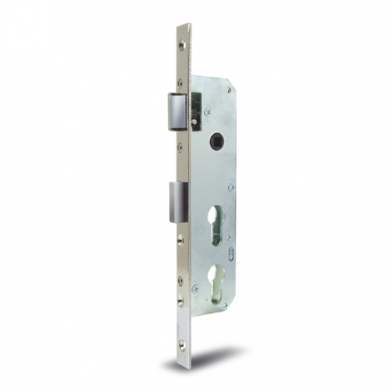 "Mortise locks with apertures for profile cylinders ""Double""along Y"