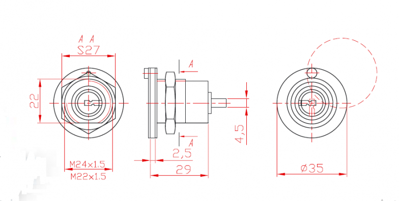 Cylinder Unilateral with Combination L29