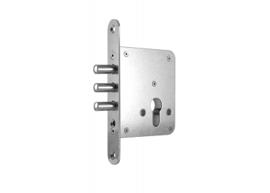 Mortise locks 2004 for additional mounting and aperture for profile cylinder