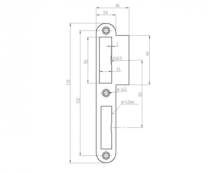 NSR_ 4502-60мм-b=1.5-1.4301