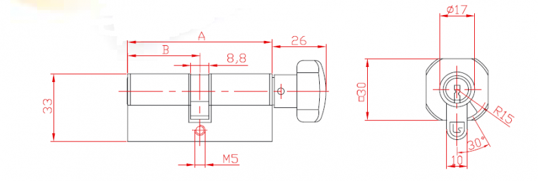 Cylinder with Knob and Cam