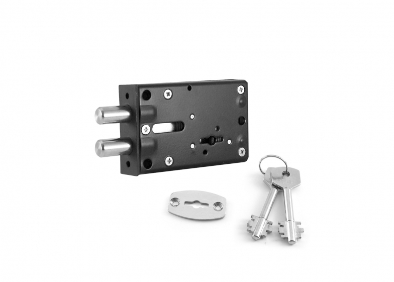 Lock unilateral single-motion for safety deposit box